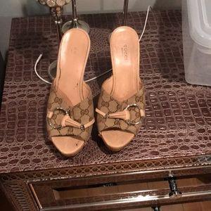 Gucci heel slippers